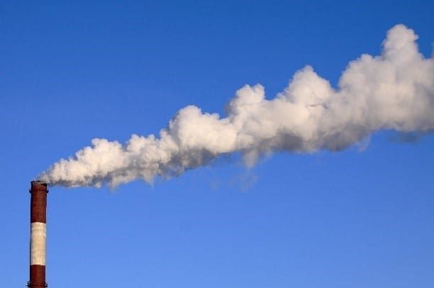 Air Pollution Solids Land on the Ground Surface