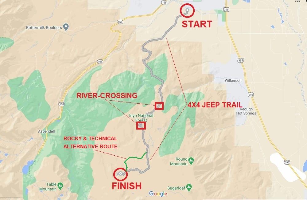 Coyote Flat 4x4 Trail Map - By Geo Forward