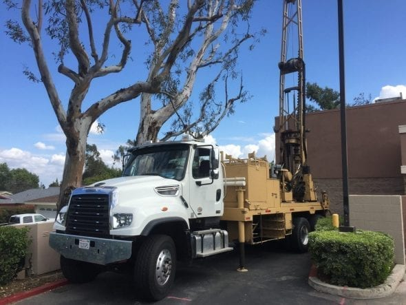 Drilling for Soil Samples via Phase II Environmental HSA Drill Rig