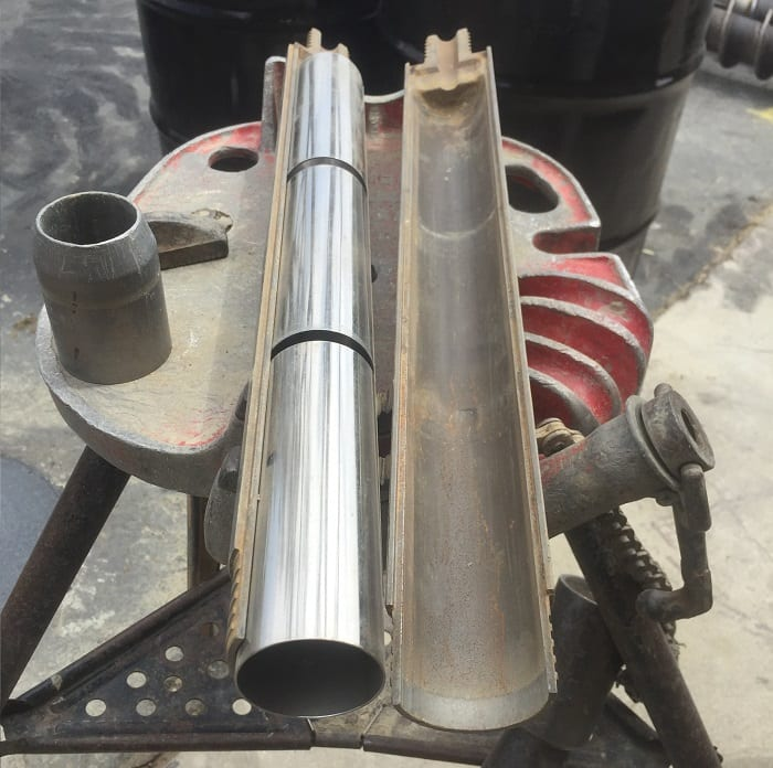 California Modified Split Spoon Sampler for Geological Engineering and Geotechnical Engineering Projects - Photo By: Geo Forward.