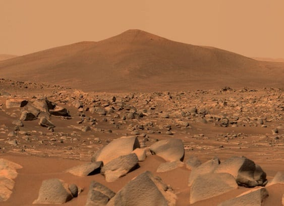 Geology of Mars - (Articles by Geo Forward) Photograph by NASA's Perseverance Mars Rover - sol 68 of the mission.