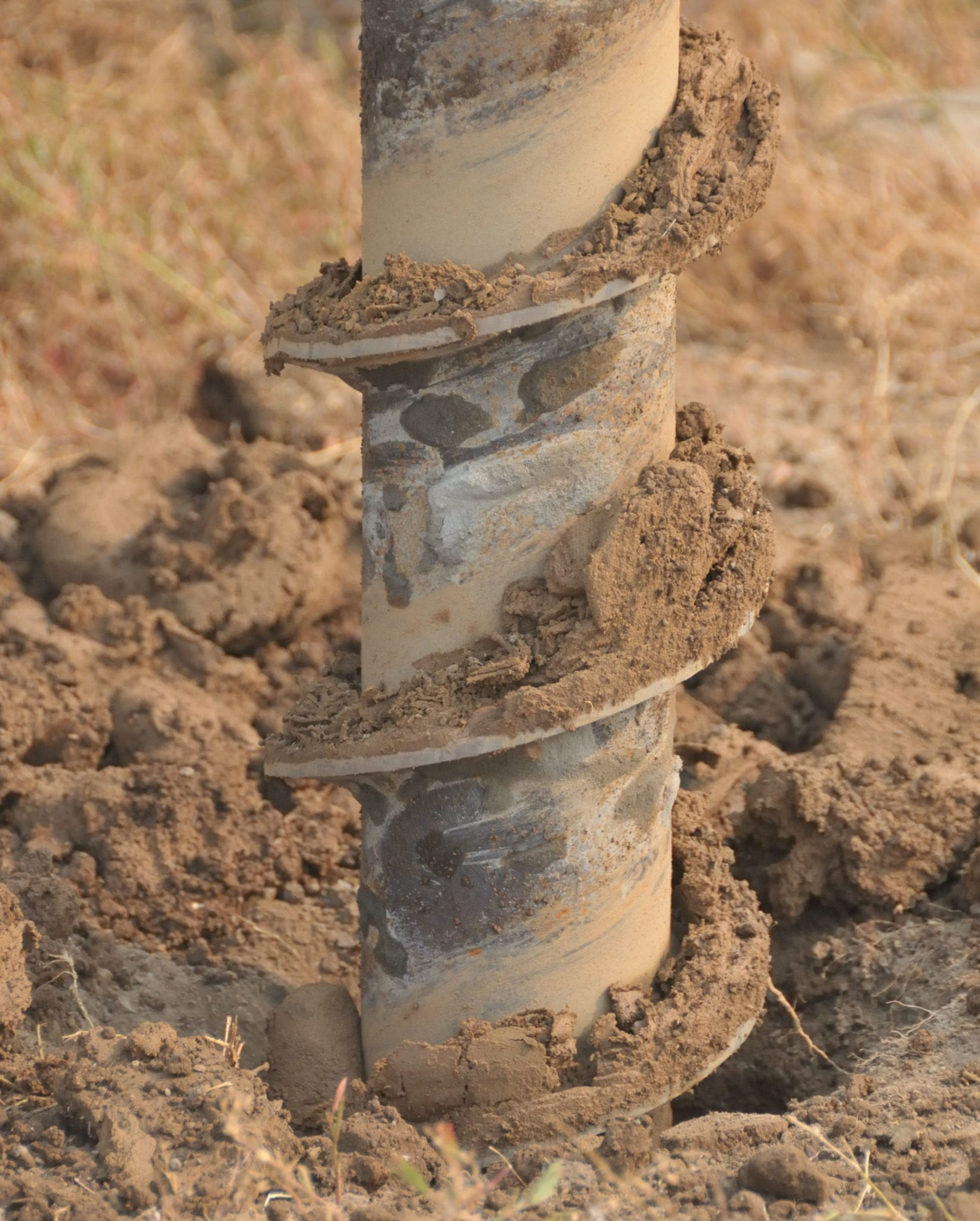 Environmental remediation includes drilling to install soil vapor extraction and groundwater pump and treat systems
