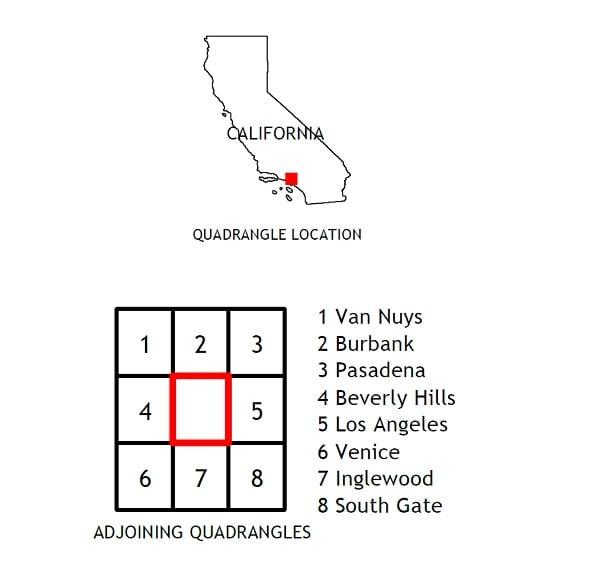 Hollywood, CA Quadrangle 2018 USGS 7.5 Minute Topo Map