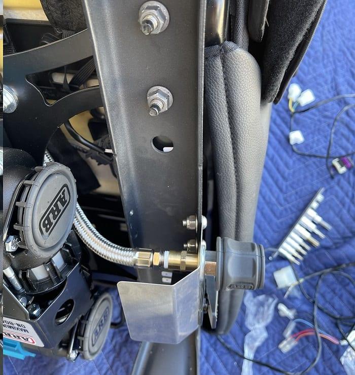 Location for Air Chuck ARB twin compressor Jeep Wrangler JK