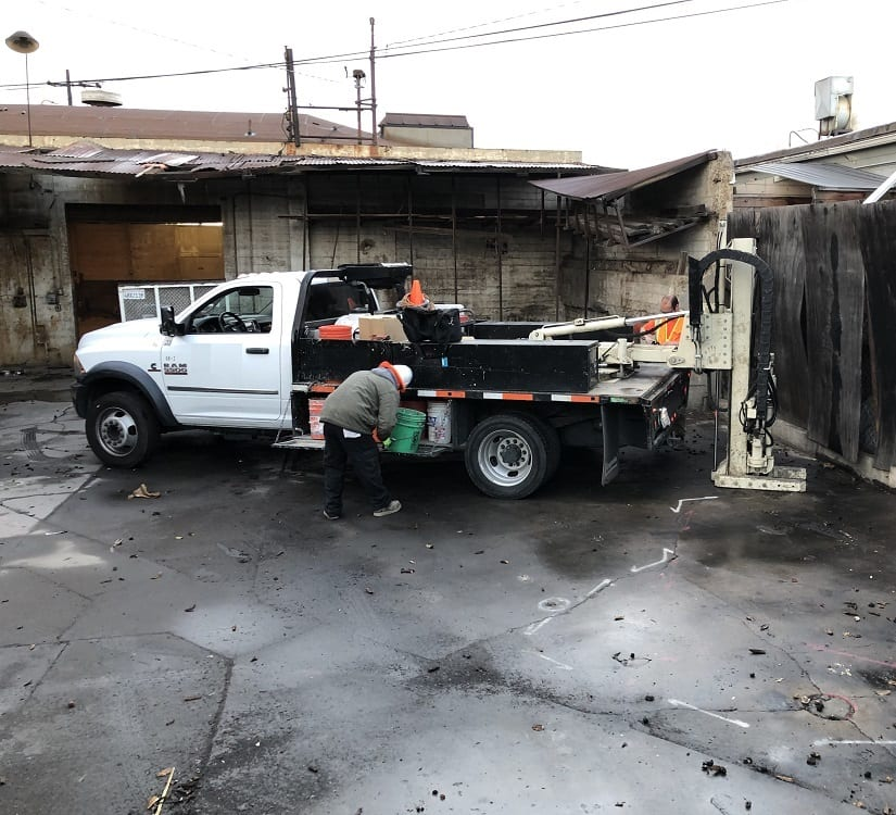 Los Angeles Methane Test Drilling & Probe Install