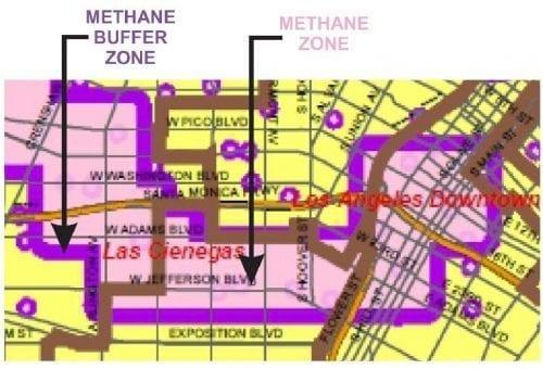 Methane Buffer Zone Los Angeles