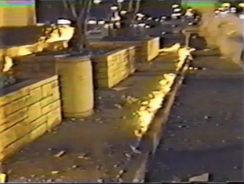 Methane Soil Gas on Fire off Sidewalk - Los Angeles 1985