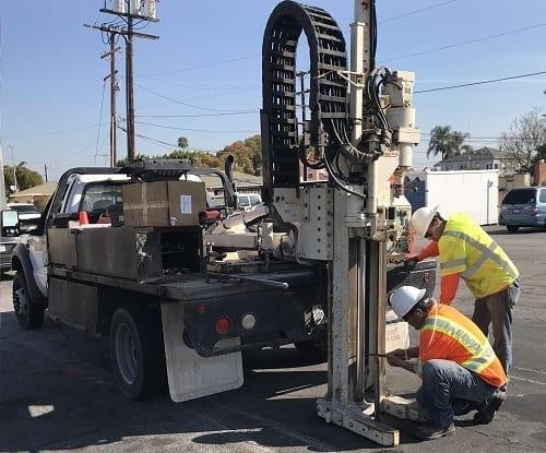 Methane Testing Drilling via Direct-Push Rig
