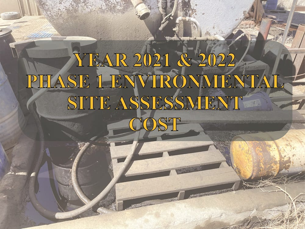 Phase 1 Environmental Site Assessment Cost Geo Forward 2021 to 2022