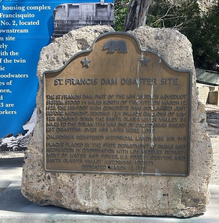 Saint Francis Dam Monument at LADWP Power House #2