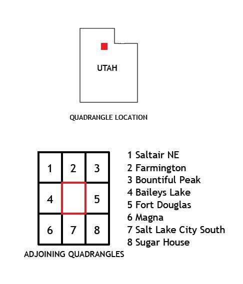 Salt Lake City North, Utah 2020 USGS 7.5 Minute Topo Map