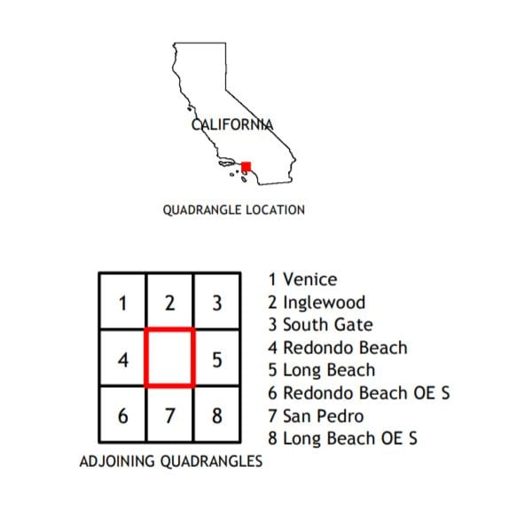 Torrance, CA Quadrangle 2018 USGS 7.5 Minute Topo Map