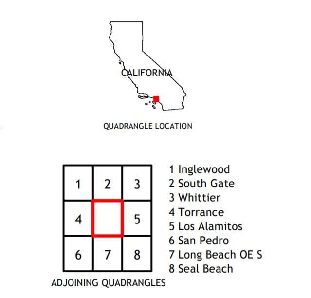 USGS 7.5 Minute Long Beach, CA Quadrangle 2018 Topo Map
