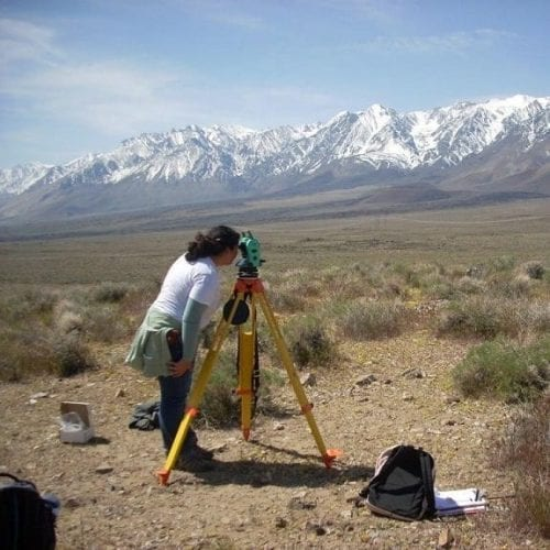 Total Station Surveying of Gravimeter Stations in Owens Valley