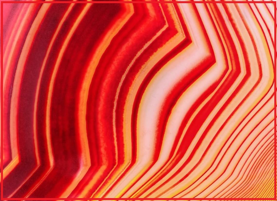 """Red Colored Agate with White Banding - Image by """"Conscious Items"""""""